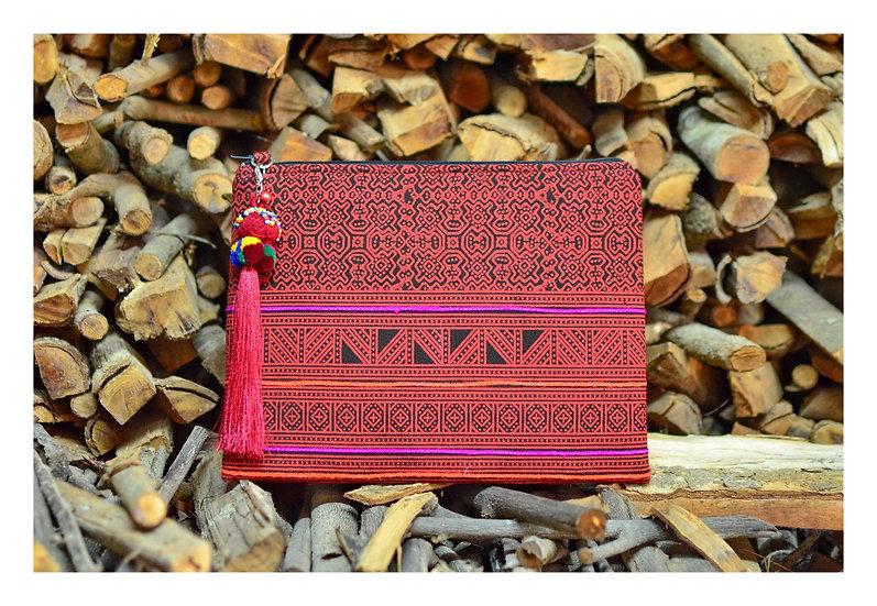 Cross body Bag, Messenger Bag, Tablet Case in Red