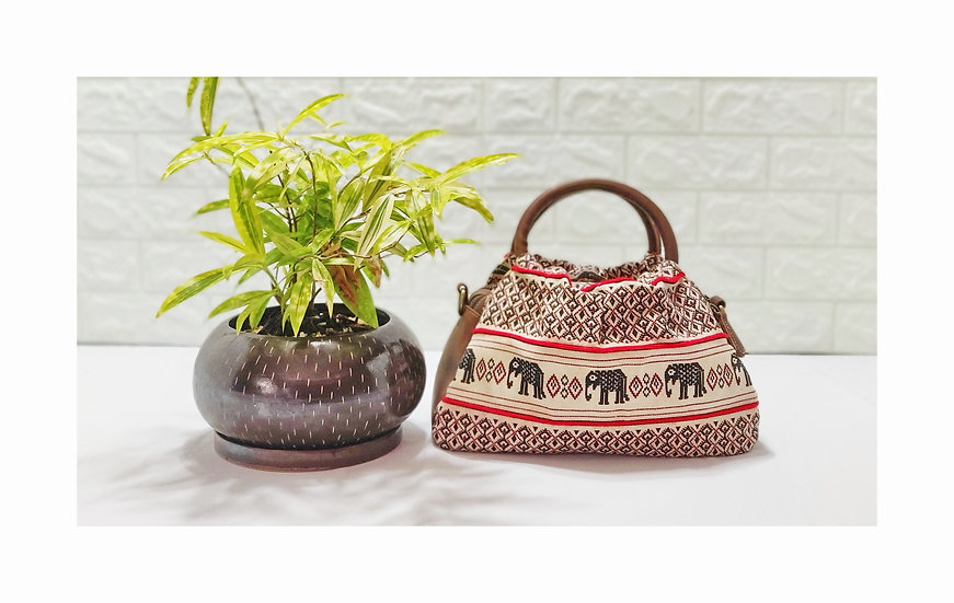 Elephant Handbags, Tribal Bag, White Purses, Gift Ideas