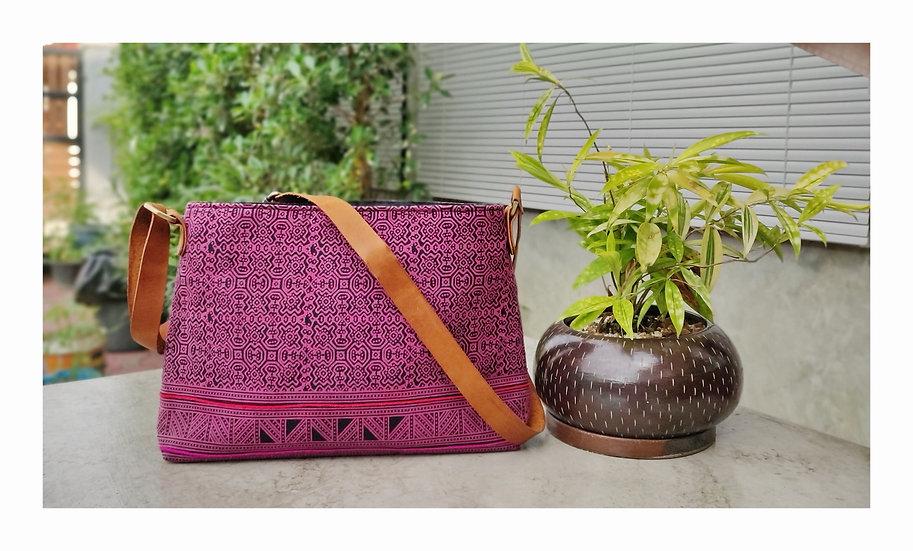Tribal Bag, Bohemian Shoulder Bags, Cross body Bags, Messenger Bags, Pink