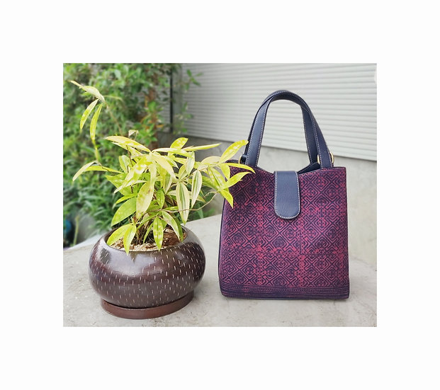 """Miniature"" Hmong Batik Shoulder Bag and Hand Bag, Red Colour"
