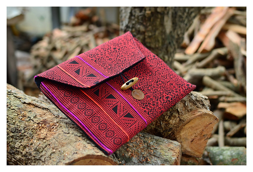 Bohemian Tablet Sleeve, Red Colour