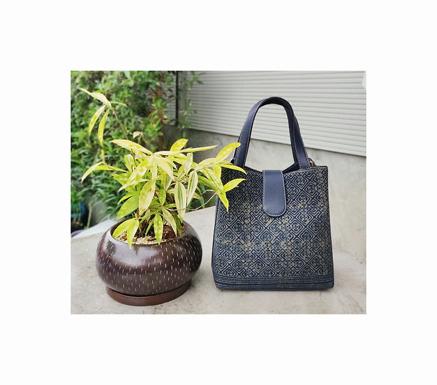 """Miniature"" Hmong Batik Shoulder Bag and Hand Bag, Green Colour"