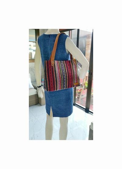 Tribal Bag, Bohemian Handbags, Shoulder Bags, Red / Stripe