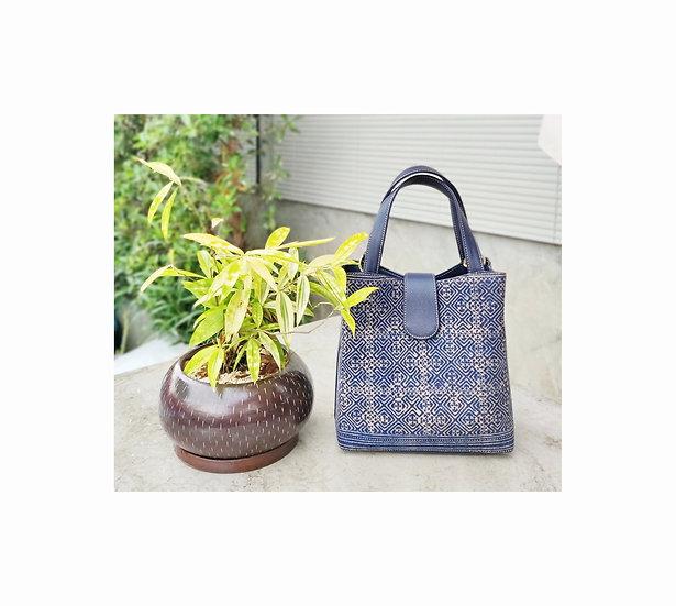 """Miniature"" Hmong Batik Shoulder Bag and Hand Bag, Brown Colour"