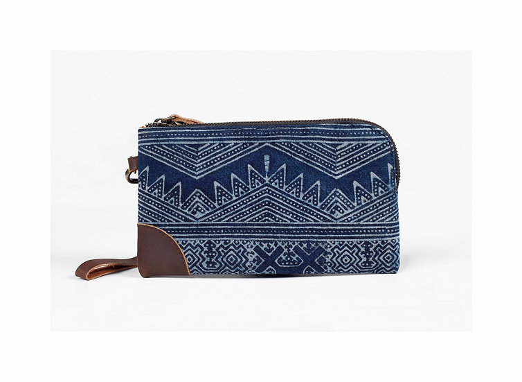 Handmade Batik Wristlet Bag, Phone Case