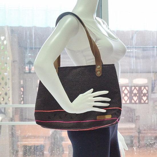 Short Strap Shoulder Bag, Tote, Handbag, Chocolate Brown