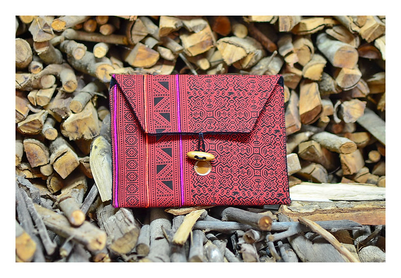 Handmade Bohemian Tablet Sleeve Red Colour