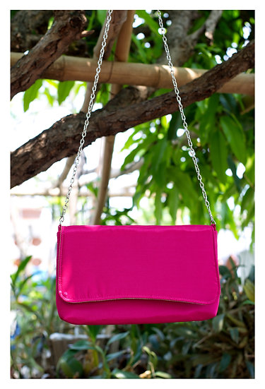 Handmade Silk Clutch Bag For Gift Idea in Pink Colour
