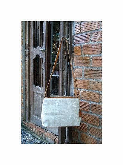 Natural Hemp Shoulder Bag, Crossbody Bag, White Bag