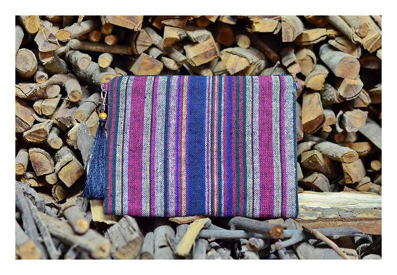 Cross body Bag, Messenger Bag, Tablet Case In Red Violet Tone