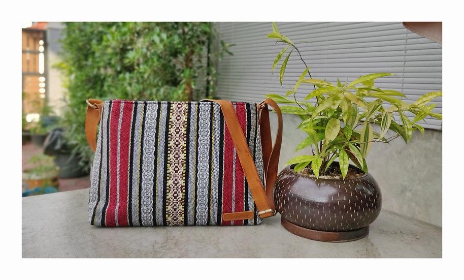 Tribal Bag, Hmong Crossbody Bags, Shoulder Bags, Gift Ideas, Red / Stripe
