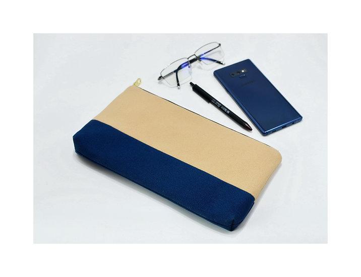 Water Splash Purses, Handbags, Wallet, Beige&Blue