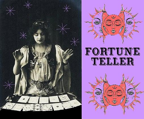 """carte """"fortune teller """""""