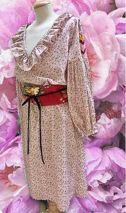 ORANGE LIBERTY DRESS FROUFROU