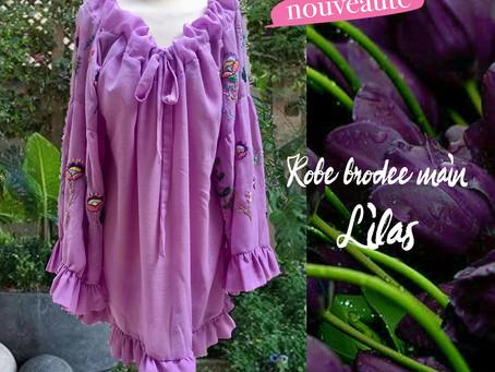 La robe romantique Lilas