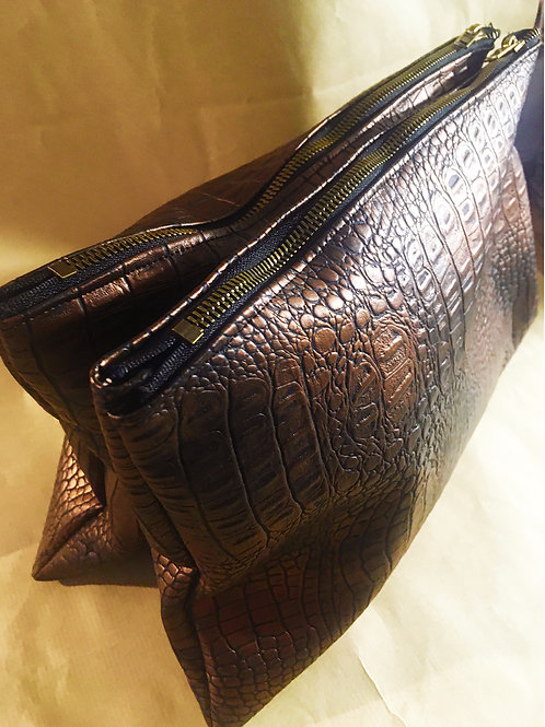 DOUBLE POCHETTE CROCO