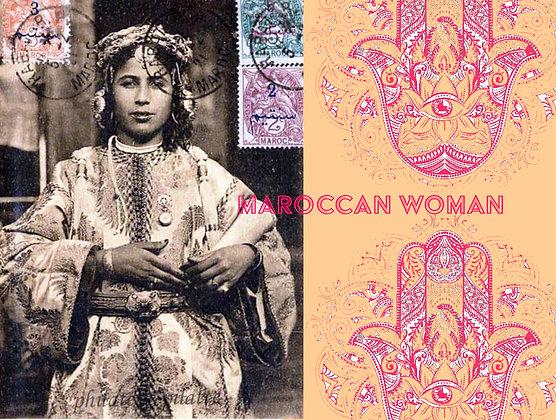 """carte """"moroccan woman"""""""