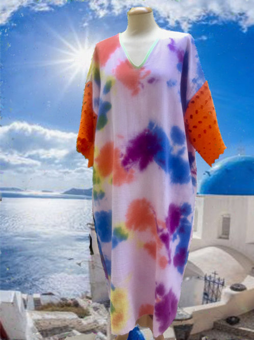 CAFTAN LONG TYE AND DYE CORFOU