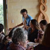 Arachai teaching Macrame workshop