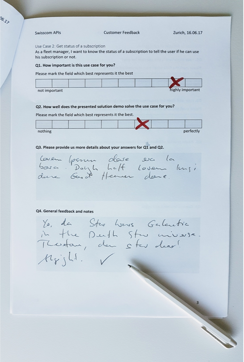 Collect customer feedback with a form.