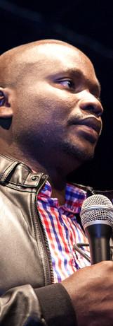 Ativista e Palestrante da RDC Prosper Dinganga no evento a Literáfrica