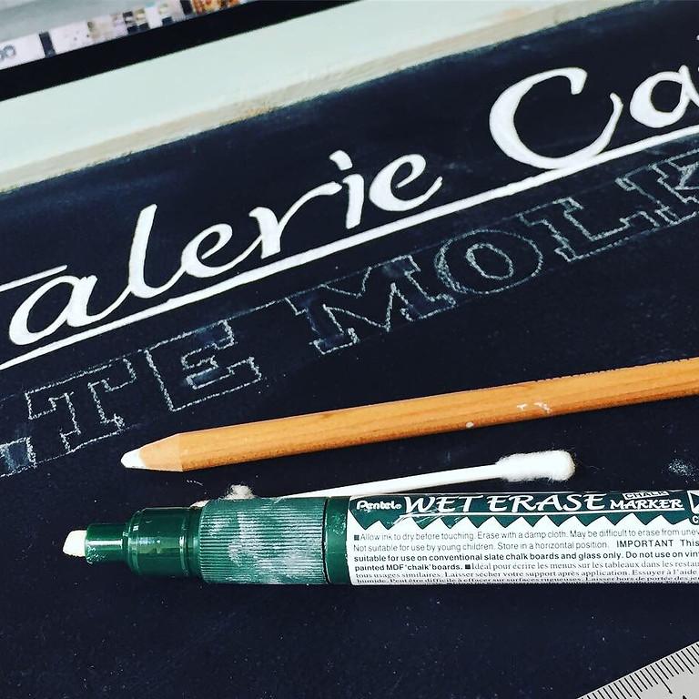 Chalk-Lettering I Tafelbeschriftungen in der MachBar