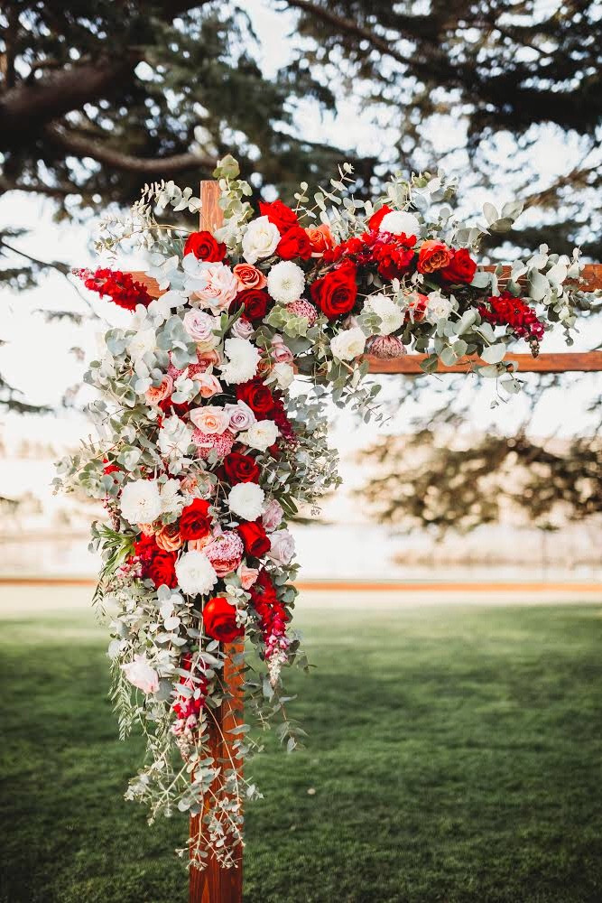 Half arbour florals for Jemma and Jon. Photography - The Paper Fox