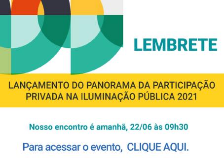 Link para acessar o evento de lançamento do Panorama da Participação Privada na Iluminação Pública