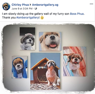 Amber Art Gallery Oil Painting Pet Testi
