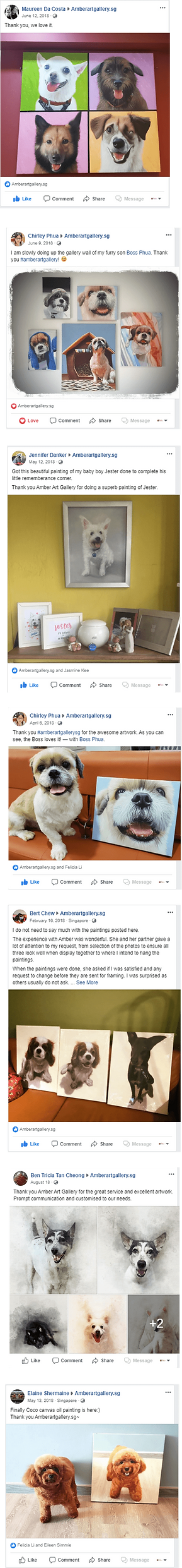 Amber Art Gallery Facebook Testimonials