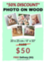 200511 - WEBSITE - 50% OFF Photo On Wood