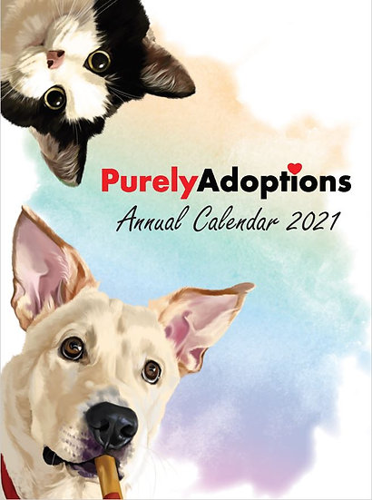 Purely Adoptions 2021 Calendar + Notebook