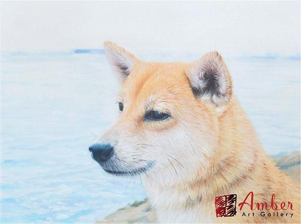 pet-portraits-dog-painting-beige-japanes