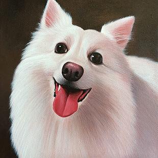 Pet Portrait Acrylic Painting Japanese S