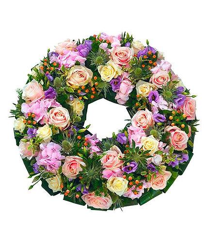 Pink open wreath