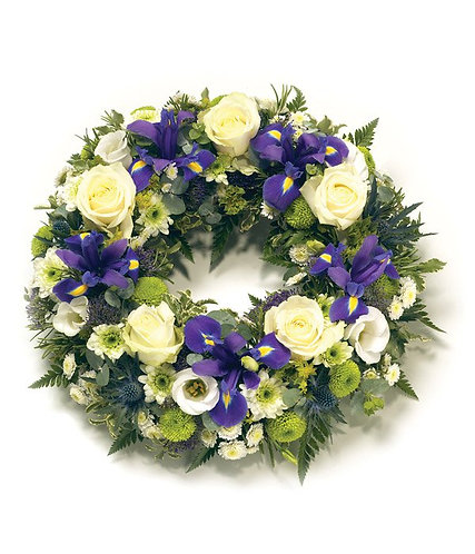 White & Purple open wreath