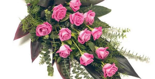 Dozen Roses Tied Sheaf