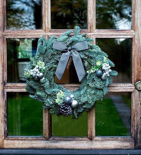 Silver Christmas Wreath