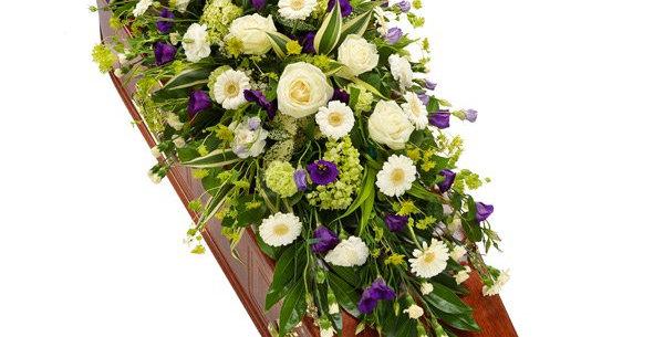 Purple White Coffin Spray