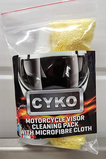 CYKO Visor Cleaner 65ml and Quality Microfibre Cloth