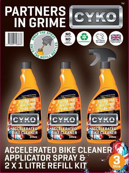 CYKO MOTORBIKE CLEANER 3LTR PACK