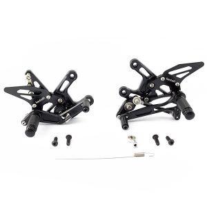 Black Rear Sets for Kawasaki ZX10 R (16-17)