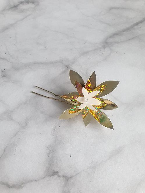 5x Gold Spangle pin