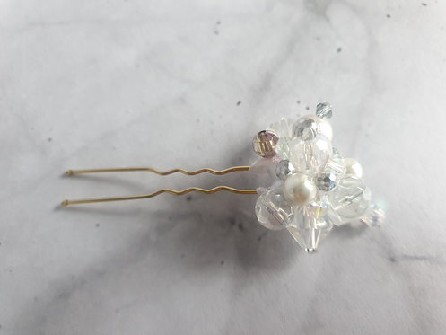 5x Crystal Cluster pins