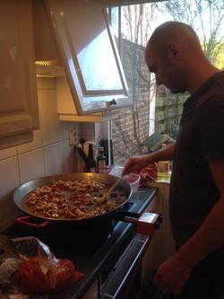 Paella vers bereid in uw keuken