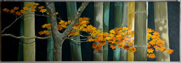 Maple Branch in the Bamboo Wood