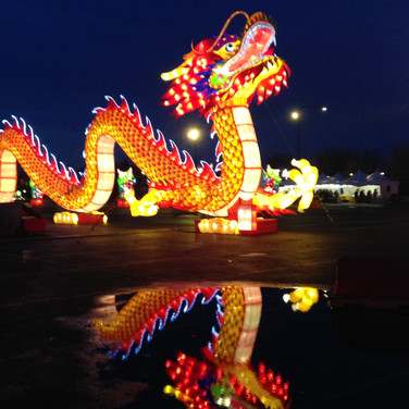 Dragon Lights Festival at Soldier Field. April 2018. © Mary Kroeck