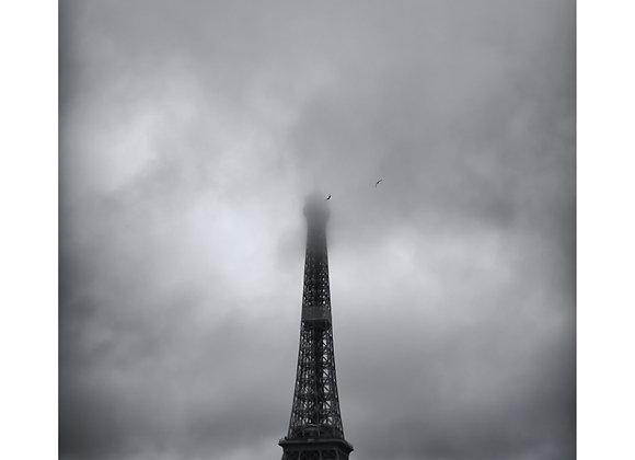 Eifell Tower : Black & White Print