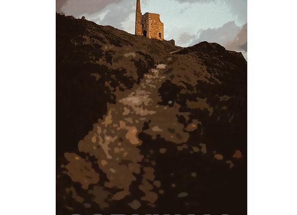 Cornwall Art Print : Mine