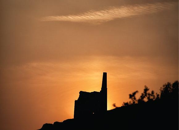 Cornish Mine Print